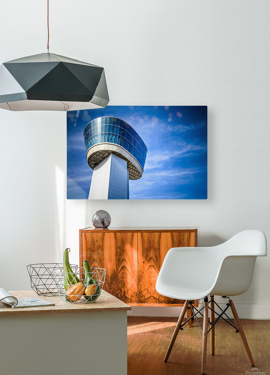 Airport Traffic Control Tower  HD Metal print with Floating Frame on Back