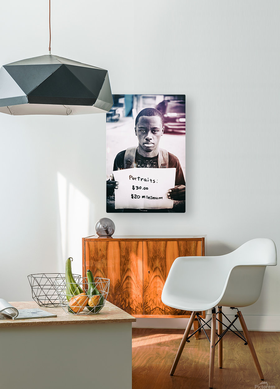 Portraits  HD Metal print with Floating Frame on Back