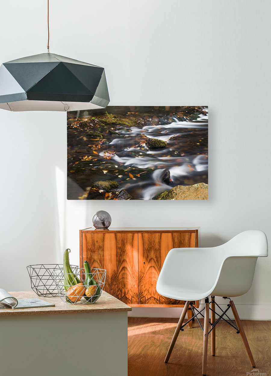 River Flow in Smokey Mountains  HD Metal print with Floating Frame on Back