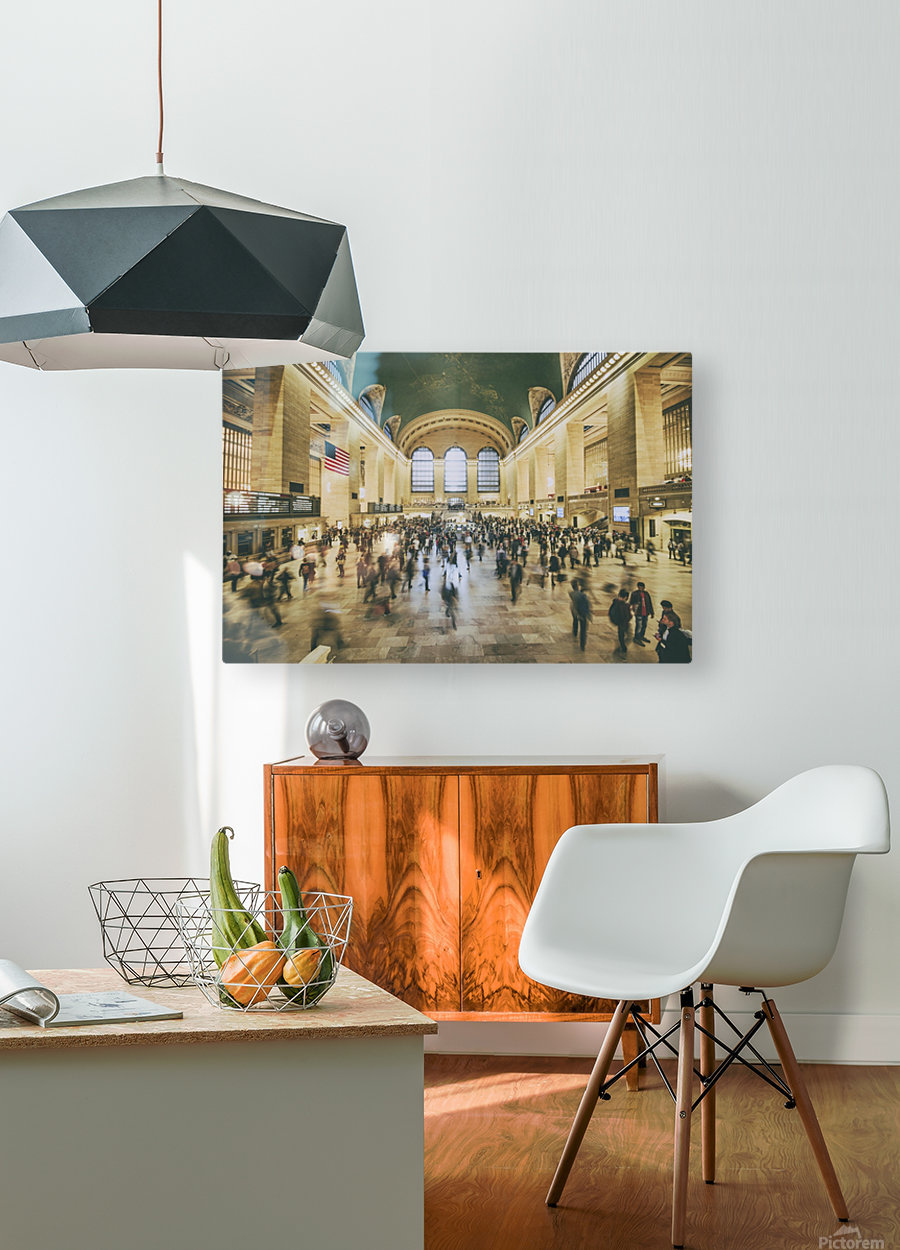 Grand Central Station  HD Metal print with Floating Frame on Back