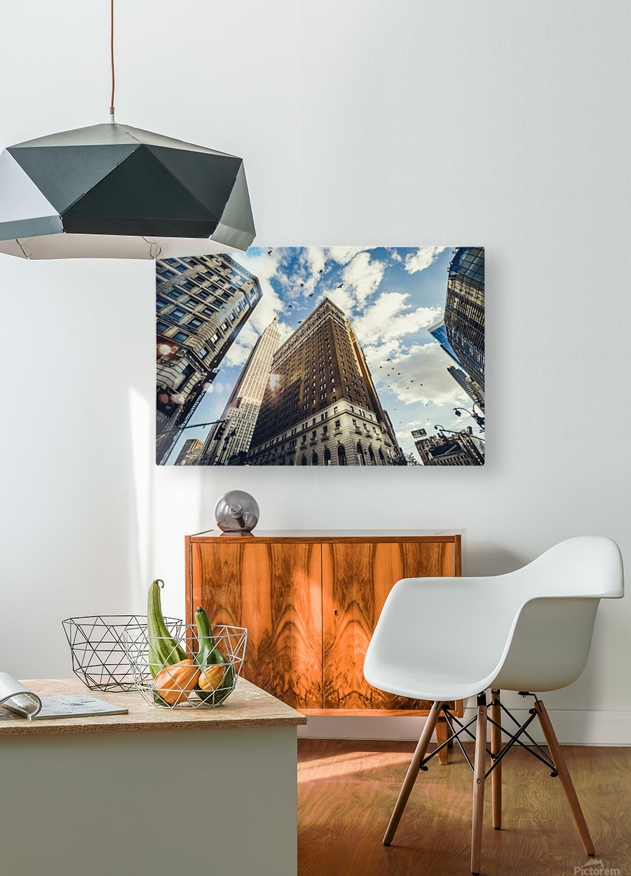 New York Sky  HD Metal print with Floating Frame on Back