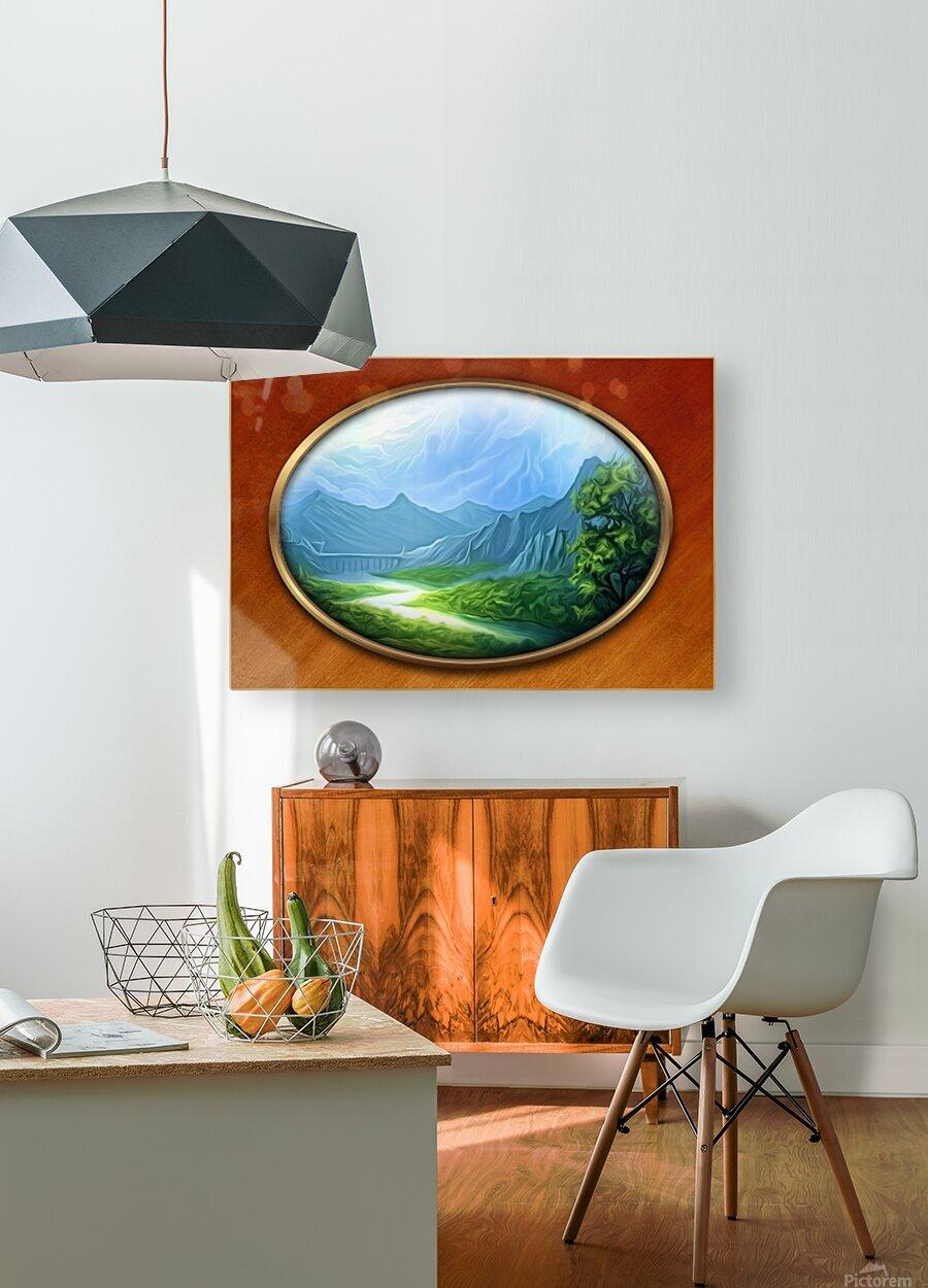 Landscape12  HD Metal print with Floating Frame on Back