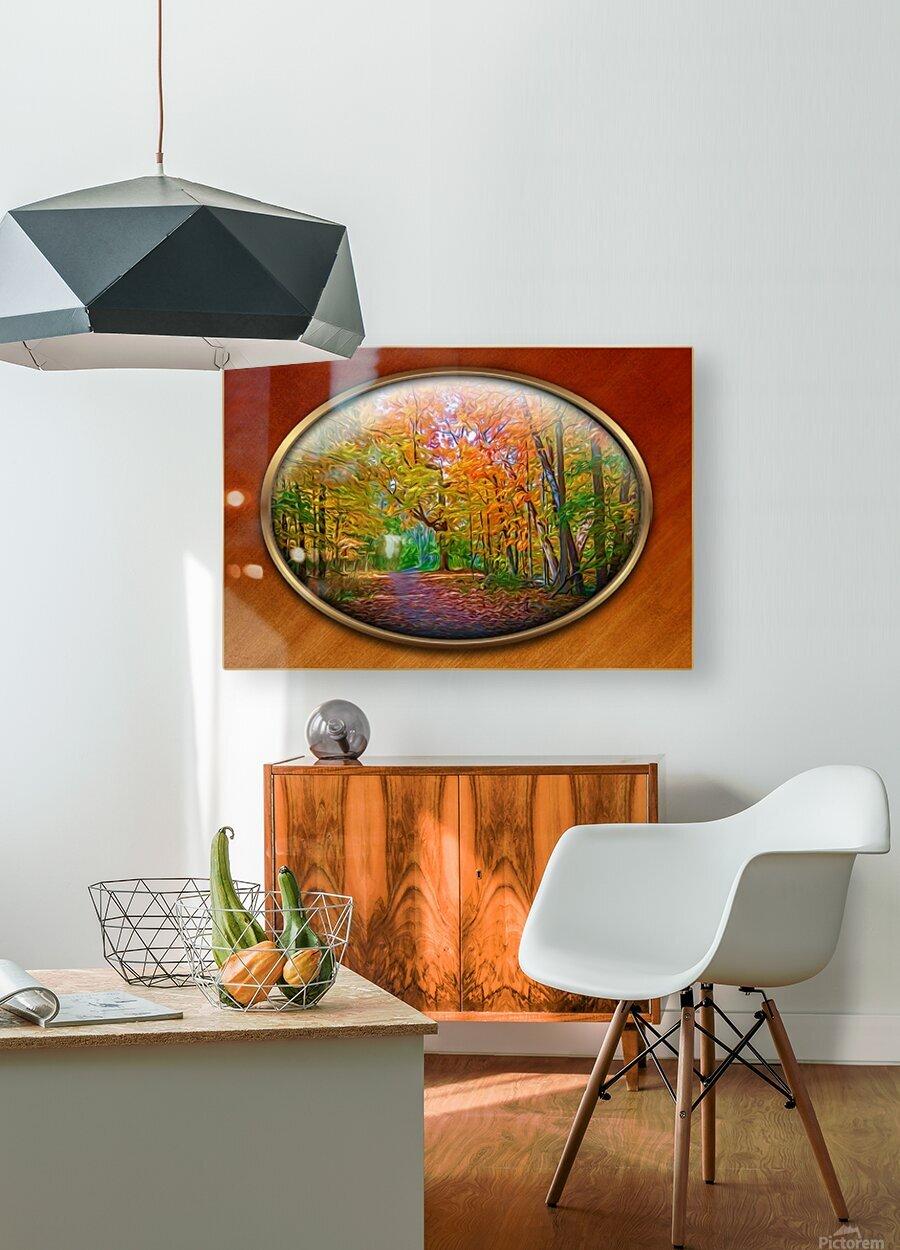 Landscape 15  HD Metal print with Floating Frame on Back