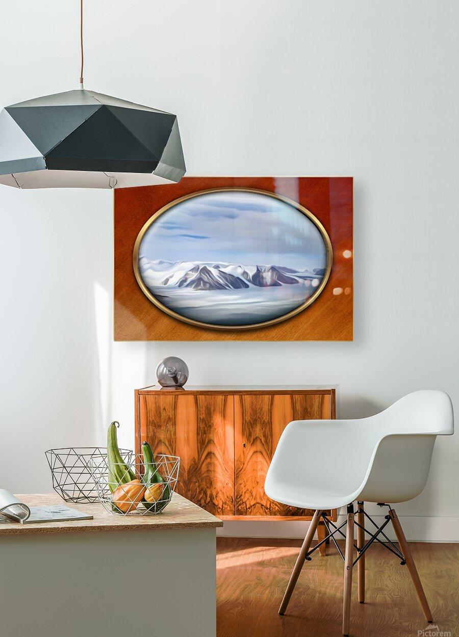 Landscape 14  HD Metal print with Floating Frame on Back