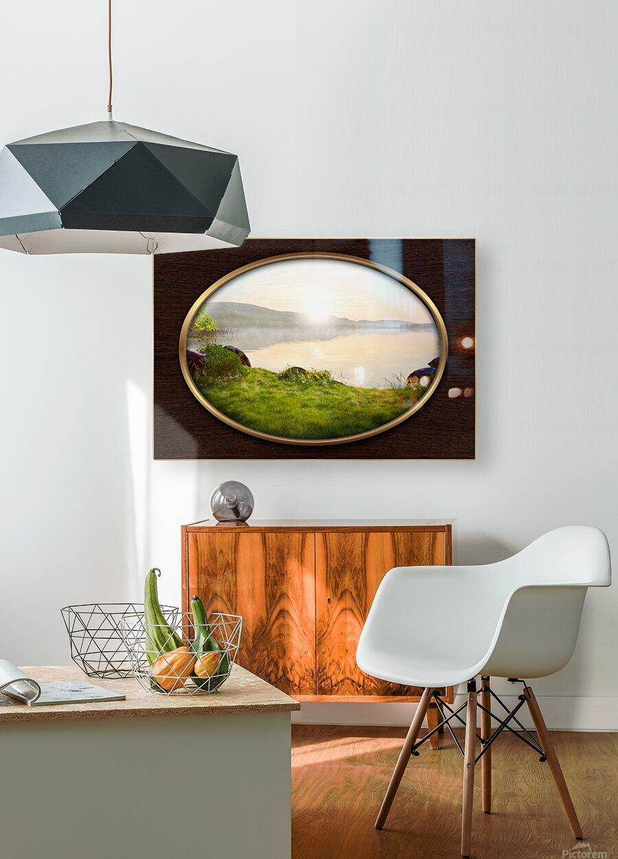 Landscape 13  HD Metal print with Floating Frame on Back