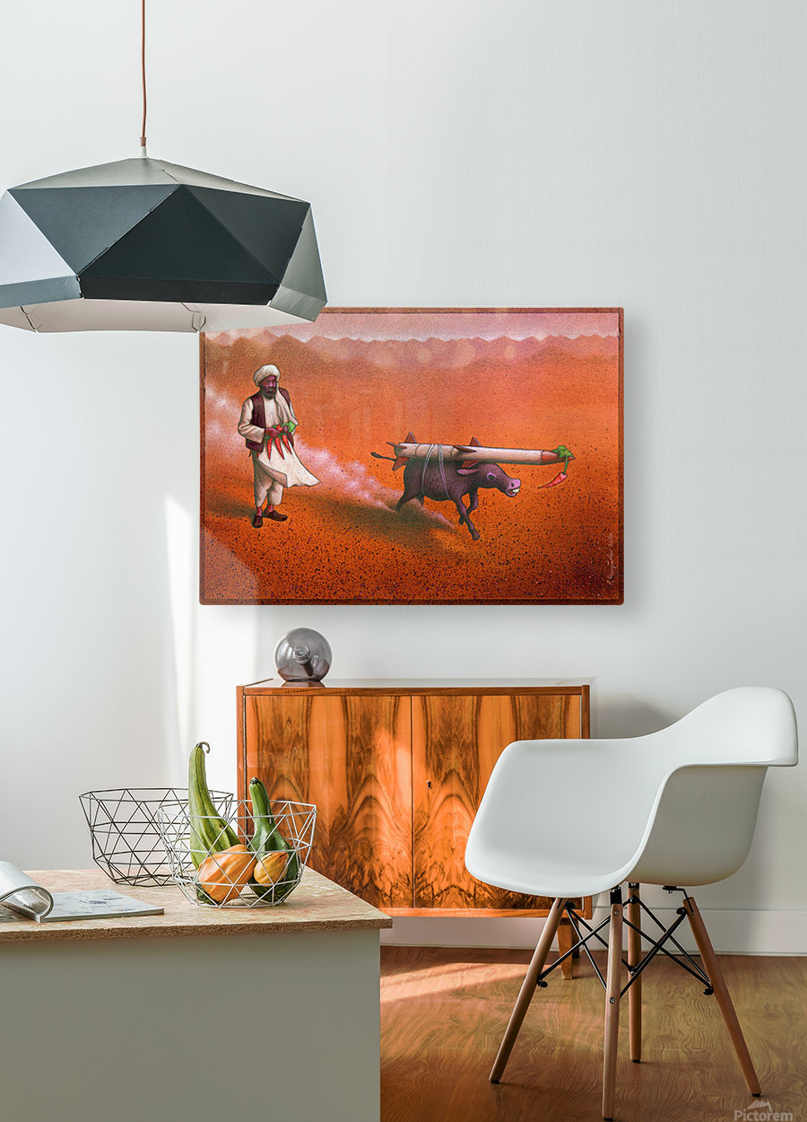 Rocket  HD Metal print with Floating Frame on Back