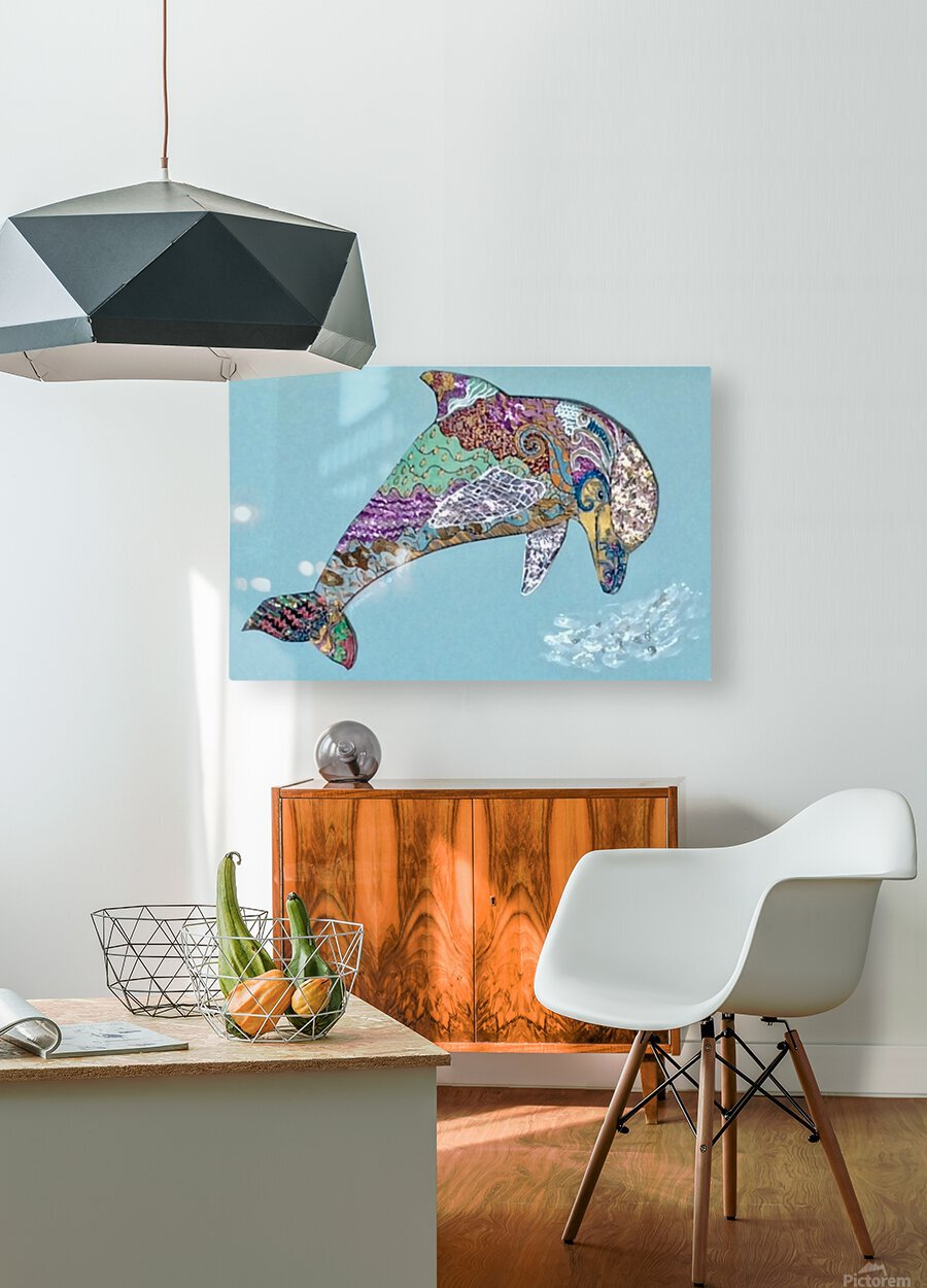Delphinus   HD Metal print with Floating Frame on Back