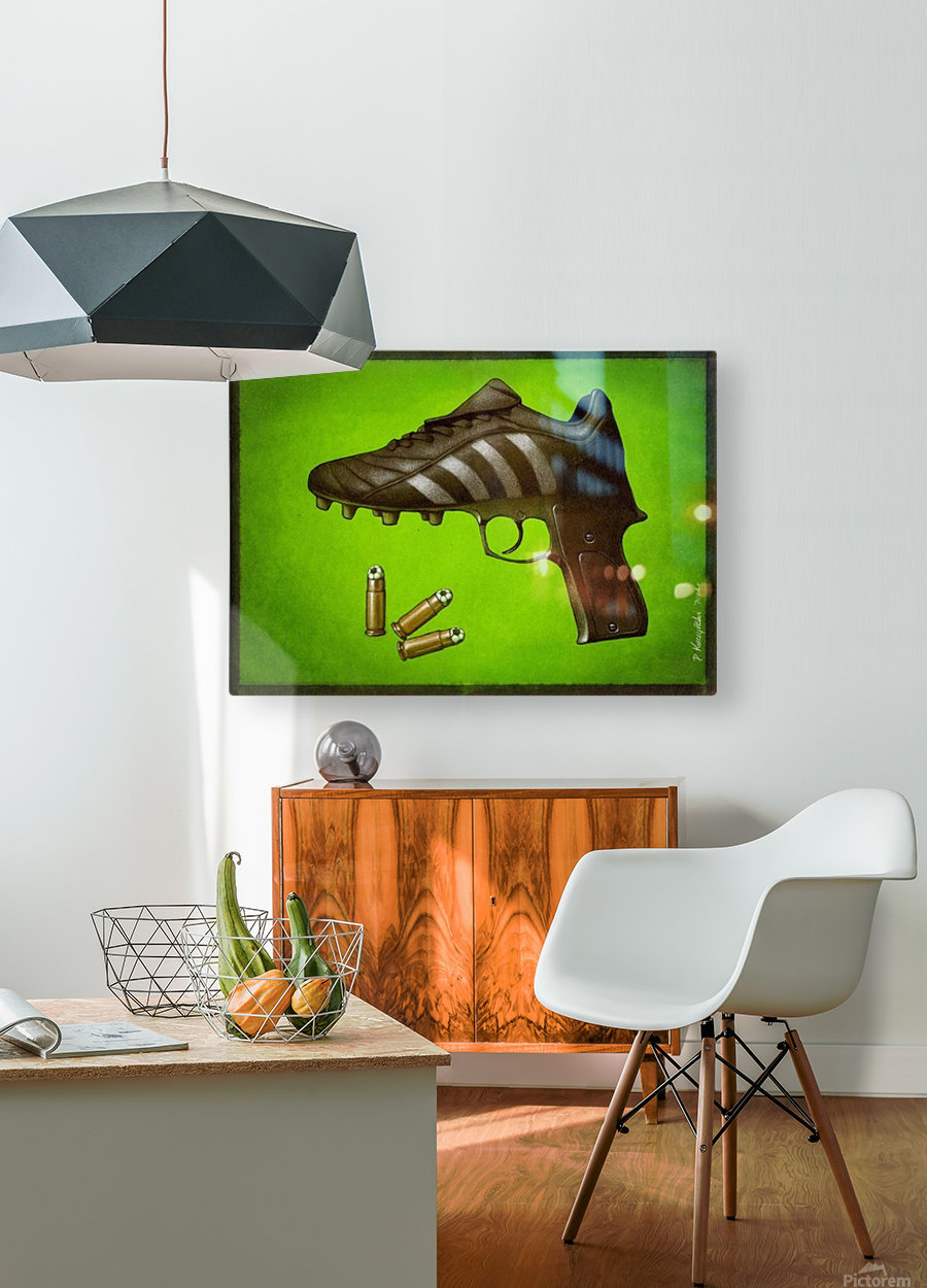 Soccer   HD Metal print with Floating Frame on Back