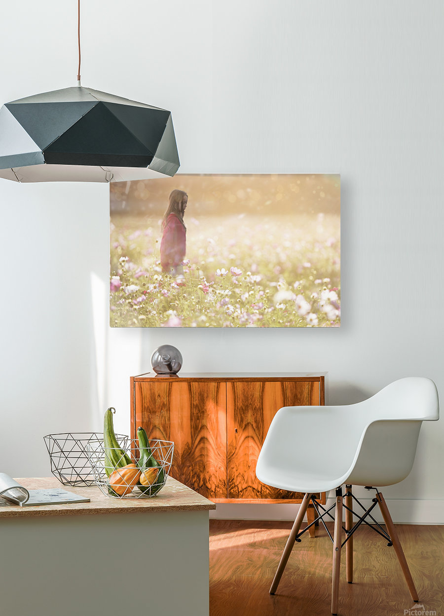 Peaceful Meadow Utah United States  HD Metal print with Floating Frame on Back