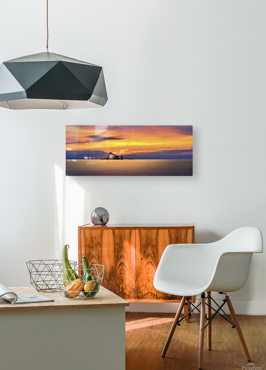 Olympic Sunset 2  HD Metal print with Floating Frame on Back