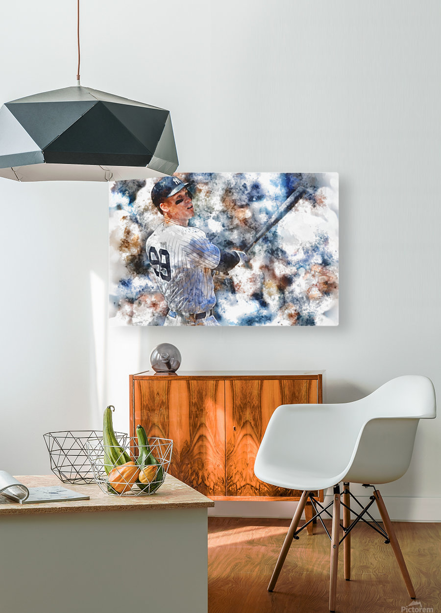 AARON JUDGE Water Color Print - New York Yankees print  HD Metal print with Floating Frame on Back