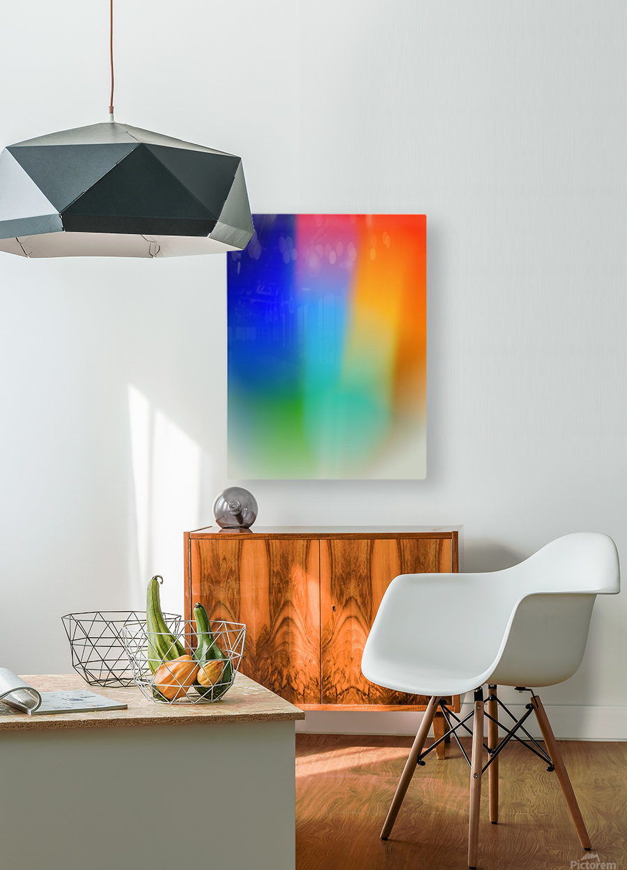 Aura  HD Metal print with Floating Frame on Back