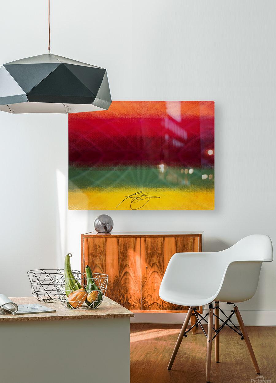 Flag  HD Metal print with Floating Frame on Back