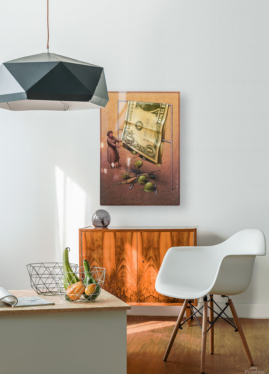 Dollar  HD Metal print with Floating Frame on Back