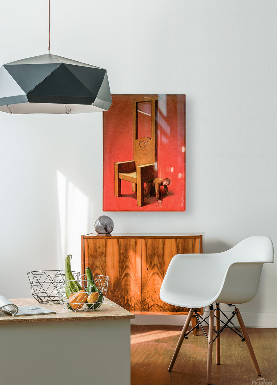 Throne  HD Metal print with Floating Frame on Back
