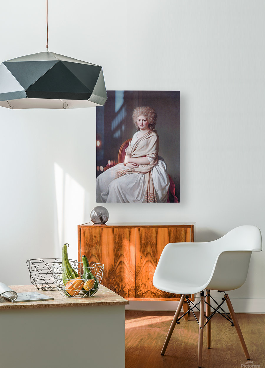 Portrait of Anne Marie  HD Metal print with Floating Frame on Back
