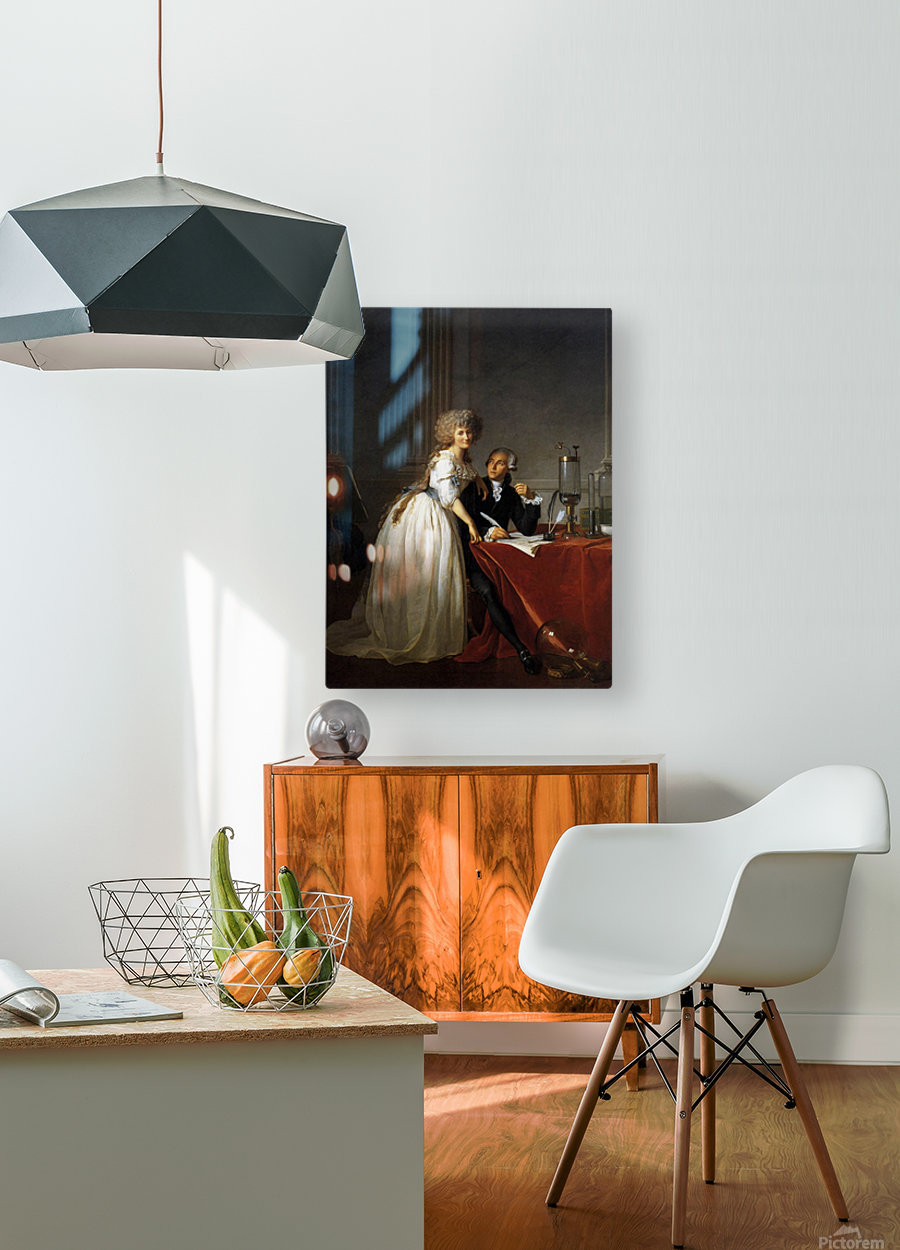 Portrait of Antoine Laurent and Marie Anne Lavoisier  HD Metal print with Floating Frame on Back