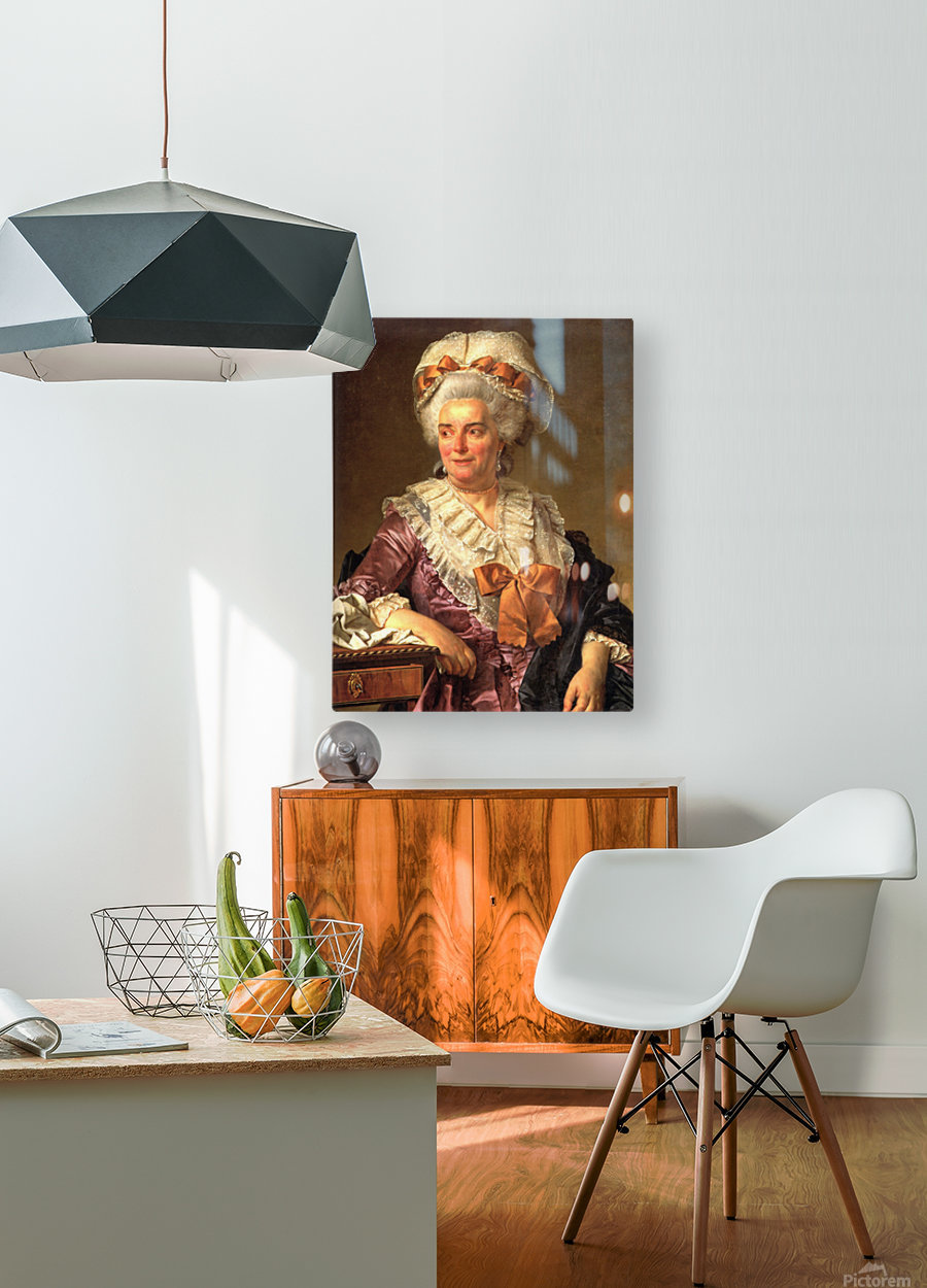 Portrait of Genevieve Jacqueline Pecoul  HD Metal print with Floating Frame on Back
