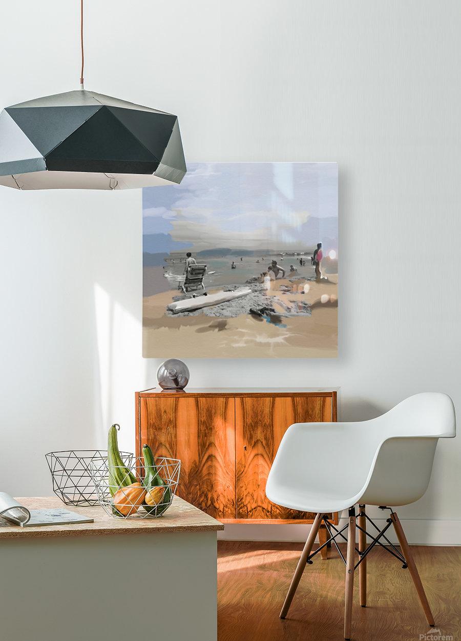 Beach Scene  HD Metal print with Floating Frame on Back