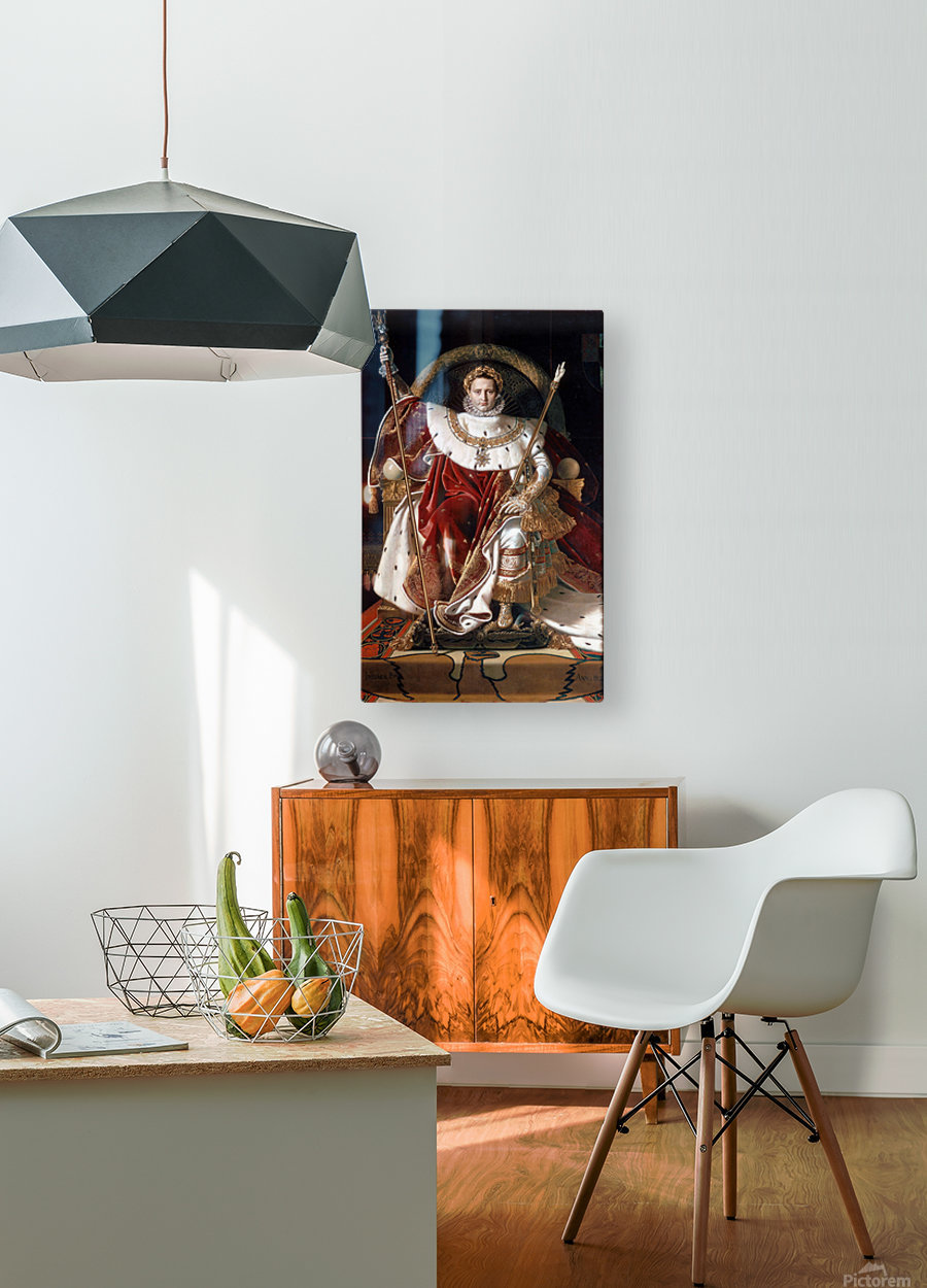 Napoleon on his imperial throne  HD Metal print with Floating Frame on Back
