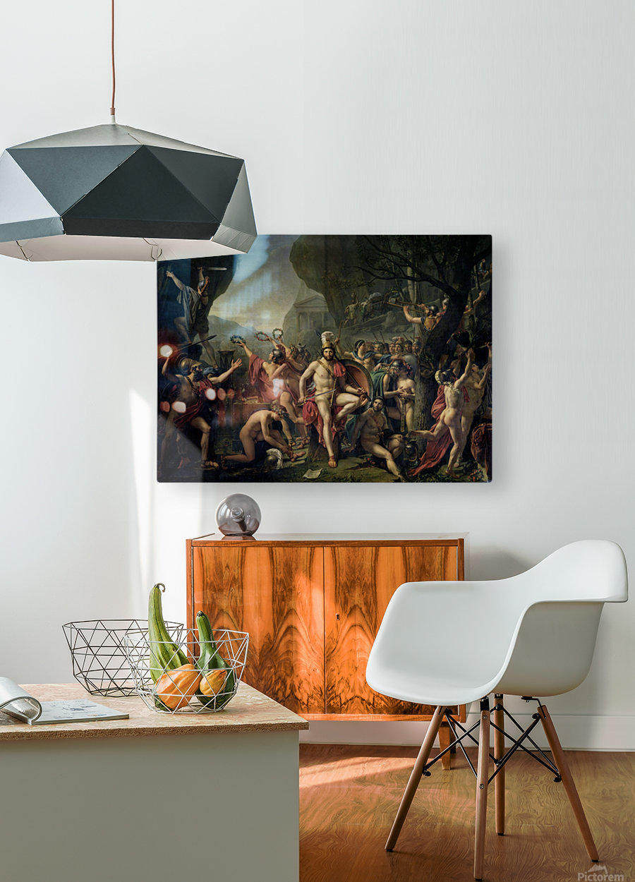 Leonidas at Thermopylae  HD Metal print with Floating Frame on Back