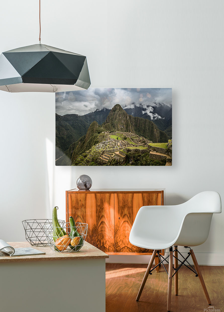 Machu Picchu  HD Metal print with Floating Frame on Back