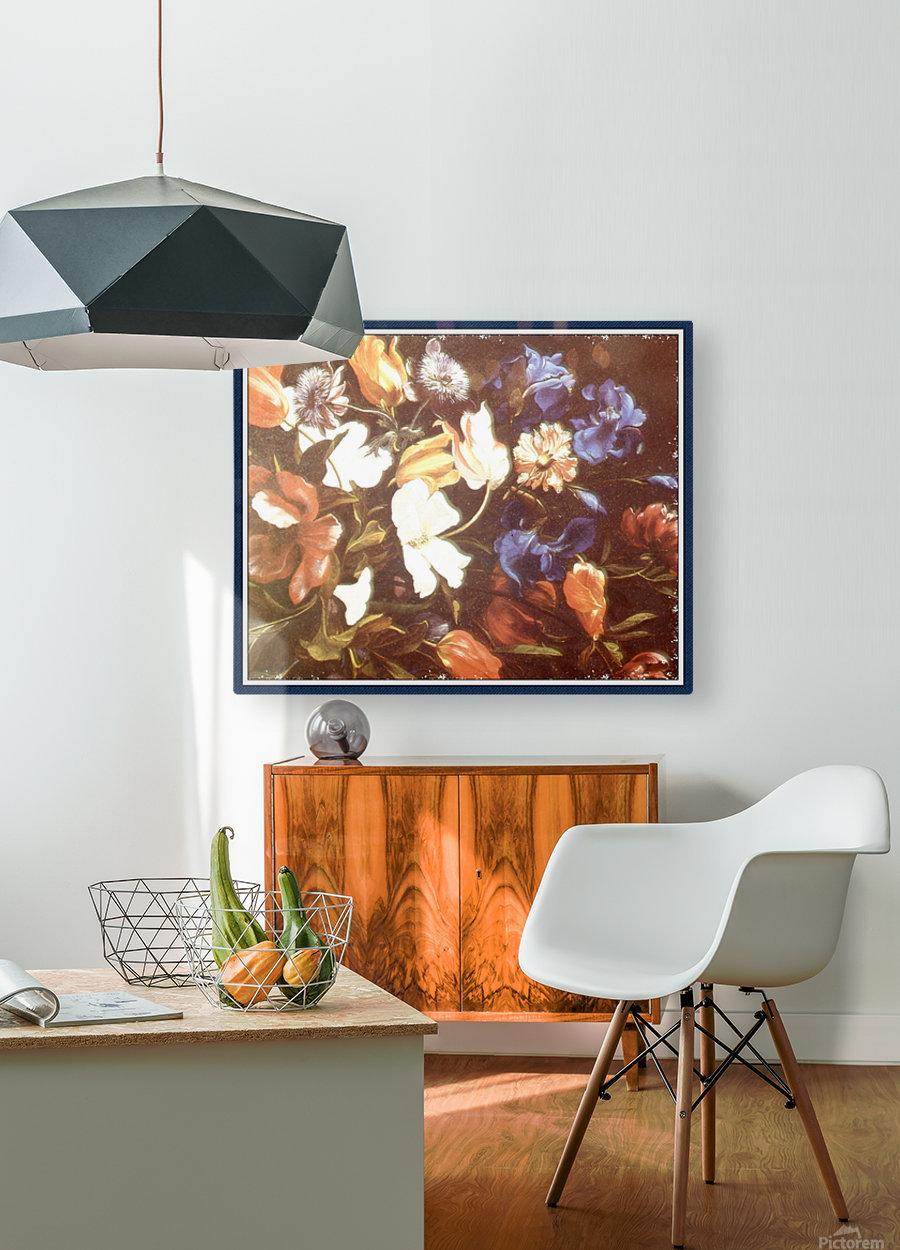 Brilliant Floral Display  Impression métal HD avec cadre flottant sur le dos
