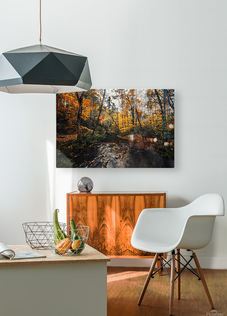 Smokey Mountain River  HD Metal print with Floating Frame on Back