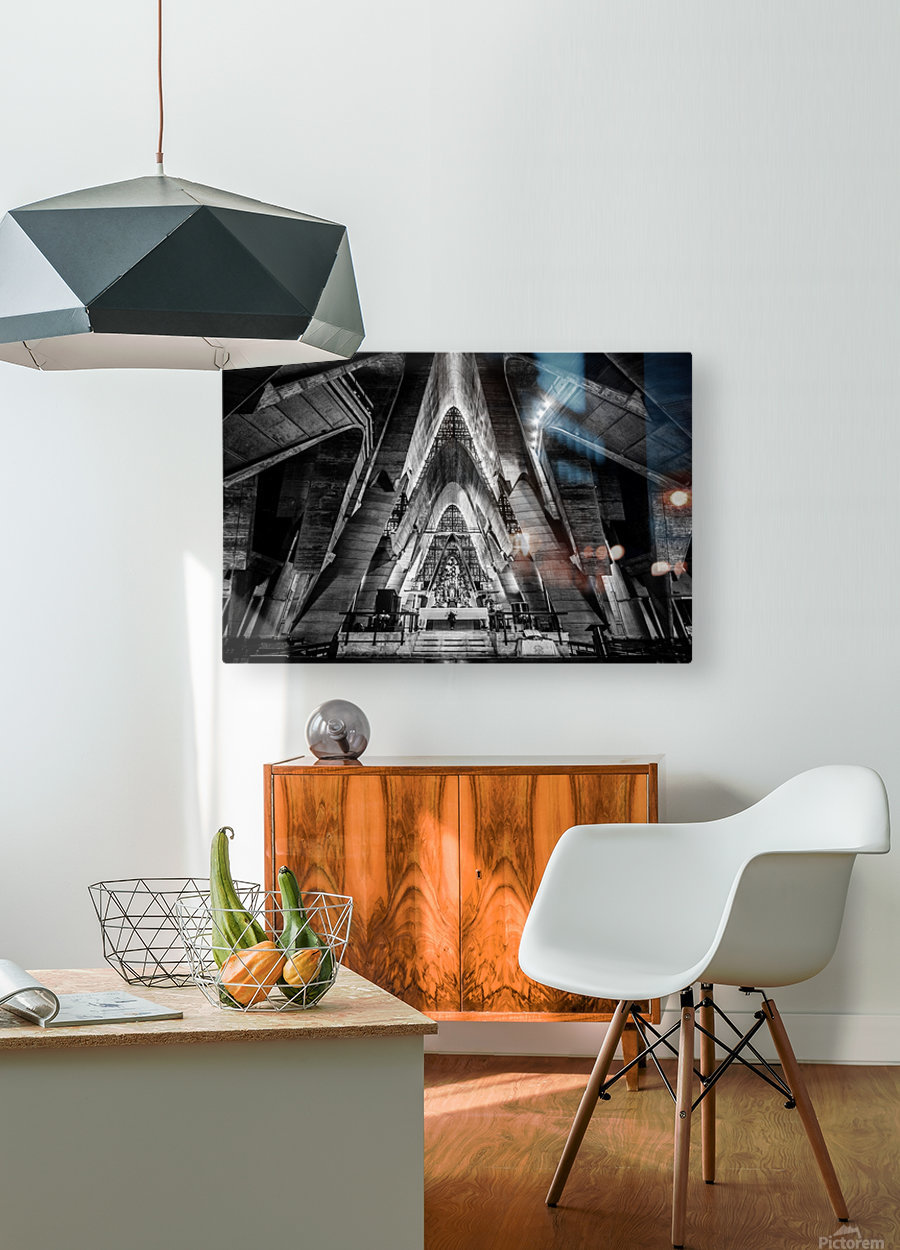 Cathedral  HD Metal print with Floating Frame on Back