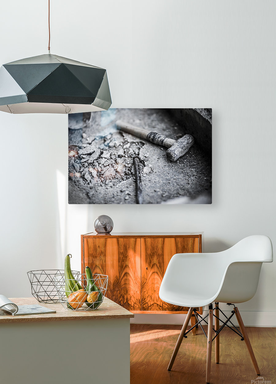 Hammer  HD Metal print with Floating Frame on Back
