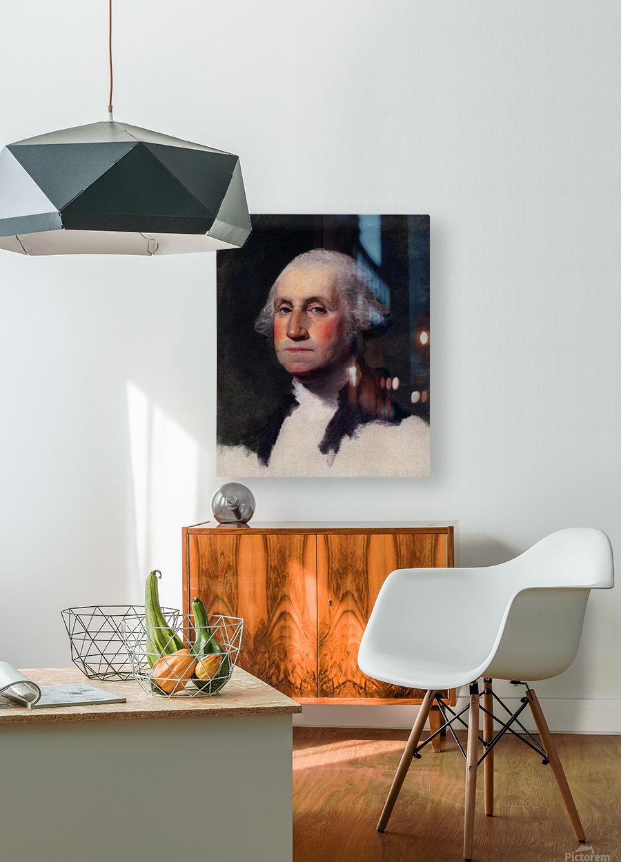 Gilbert Stuart  HD Metal print with Floating Frame on Back