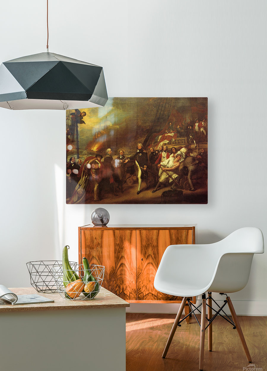 The Victory of Lord Duncan  HD Metal print with Floating Frame on Back