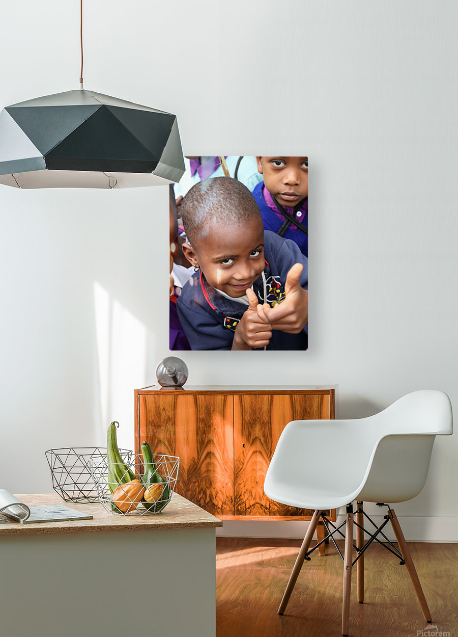 Thumbs Up  HD Metal print with Floating Frame on Back