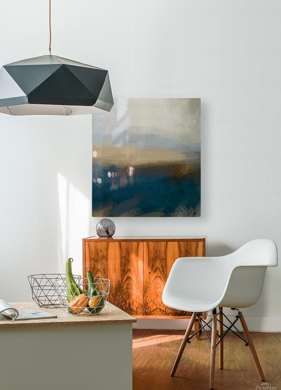 Lapis Blue Landscape  HD Metal print with Floating Frame on Back