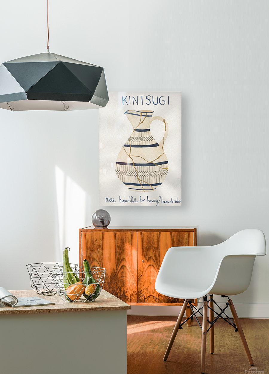 Kintsugi  HD Metal print with Floating Frame on Back