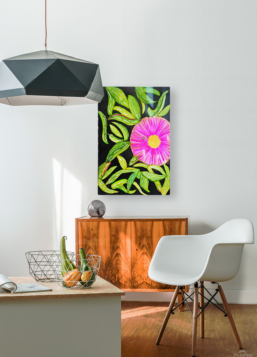 Coastal Flower  HD Metal print with Floating Frame on Back