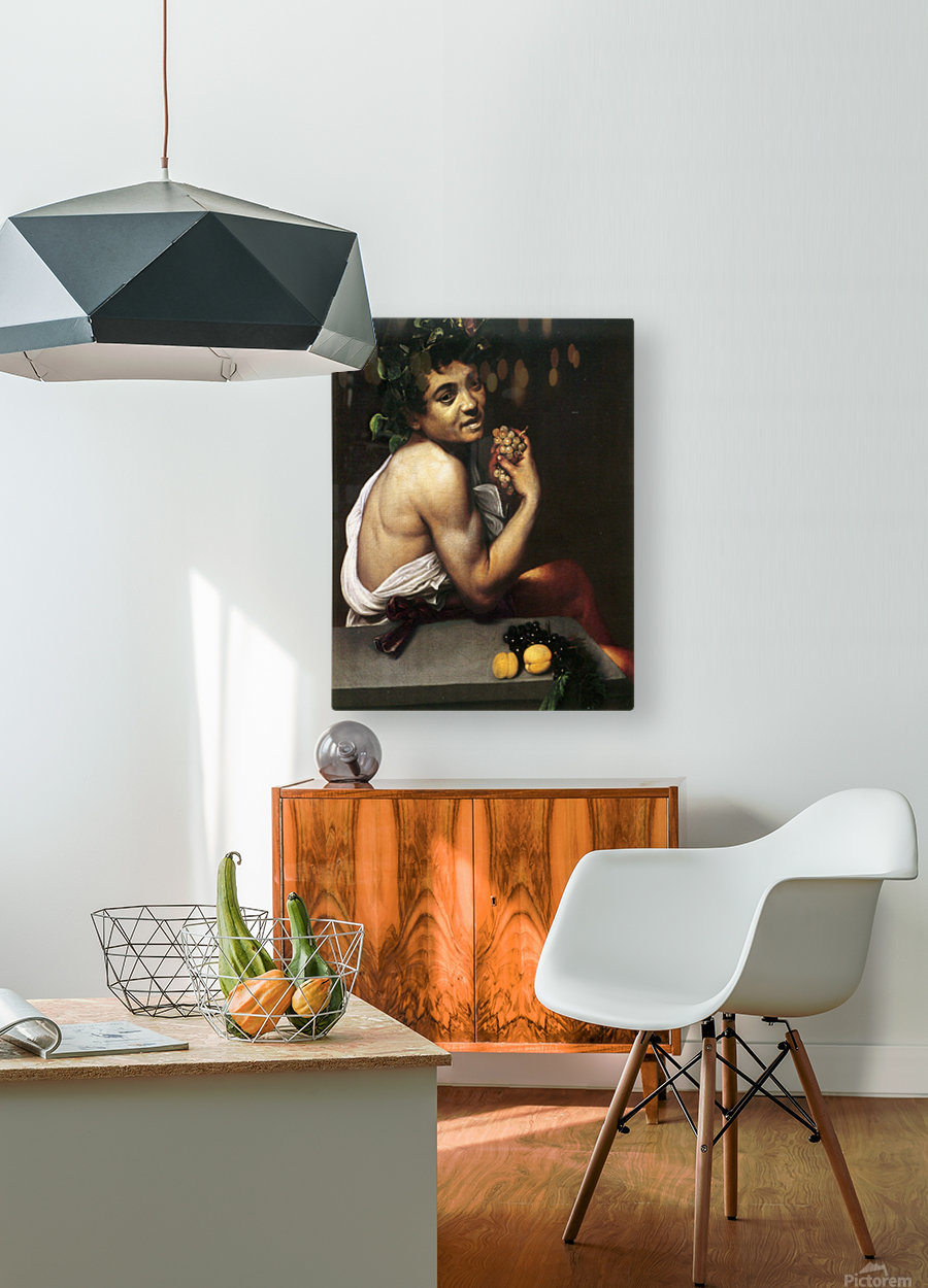 Young Sick Bacchus  HD Metal print with Floating Frame on Back