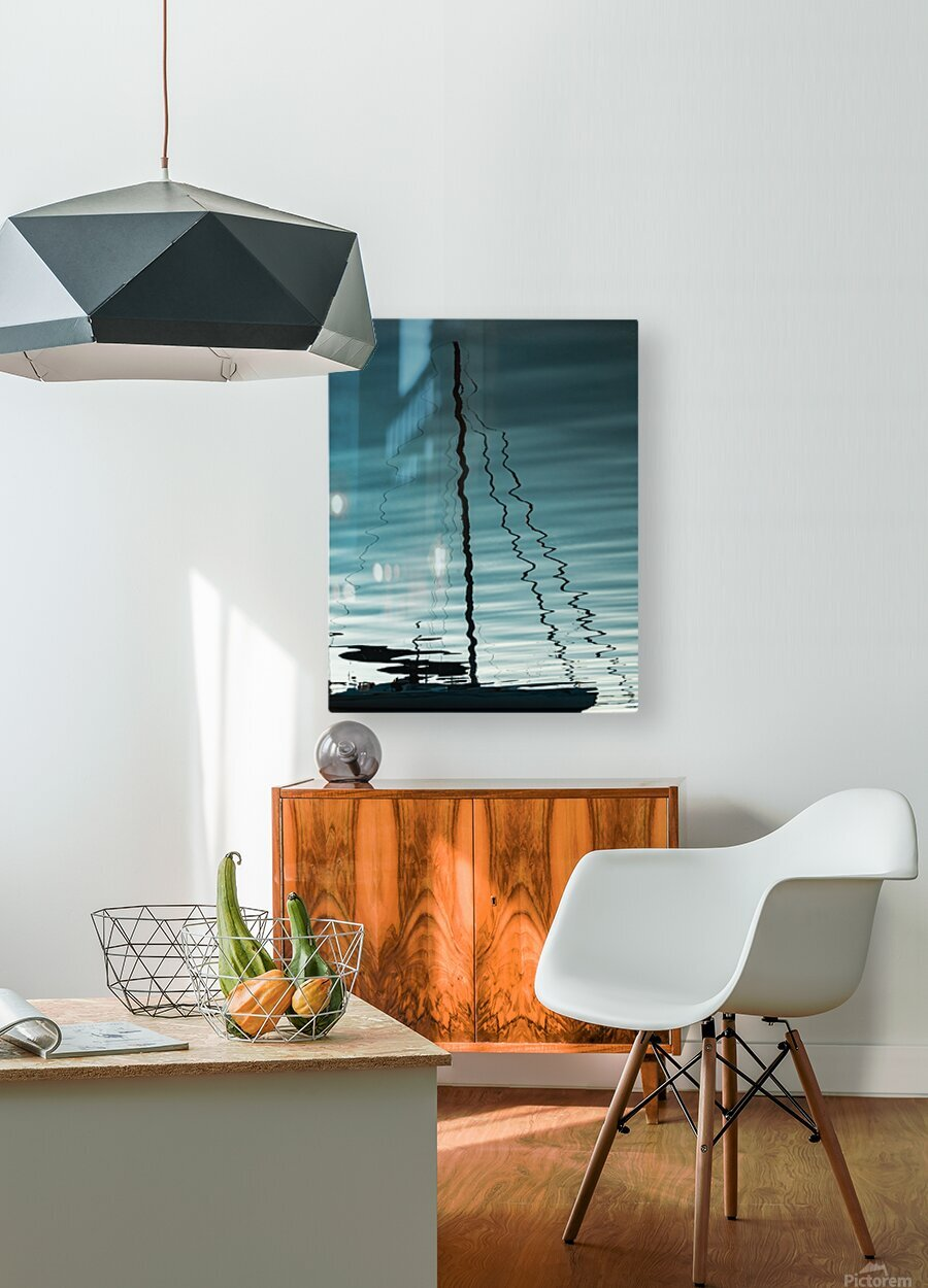 Sailboat Ripples  HD Metal print with Floating Frame on Back