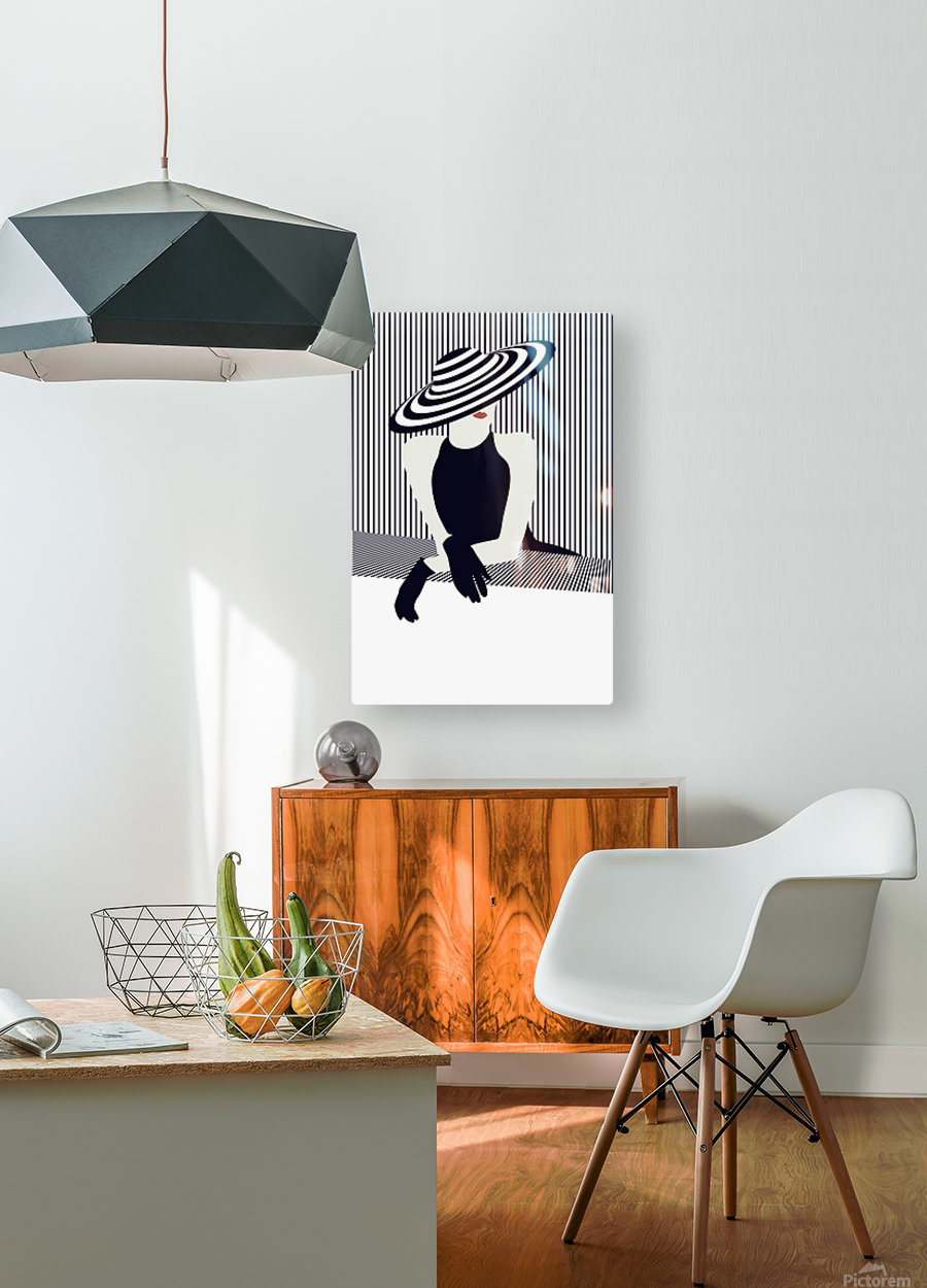 Riviera glamour  HD Metal print with Floating Frame on Back