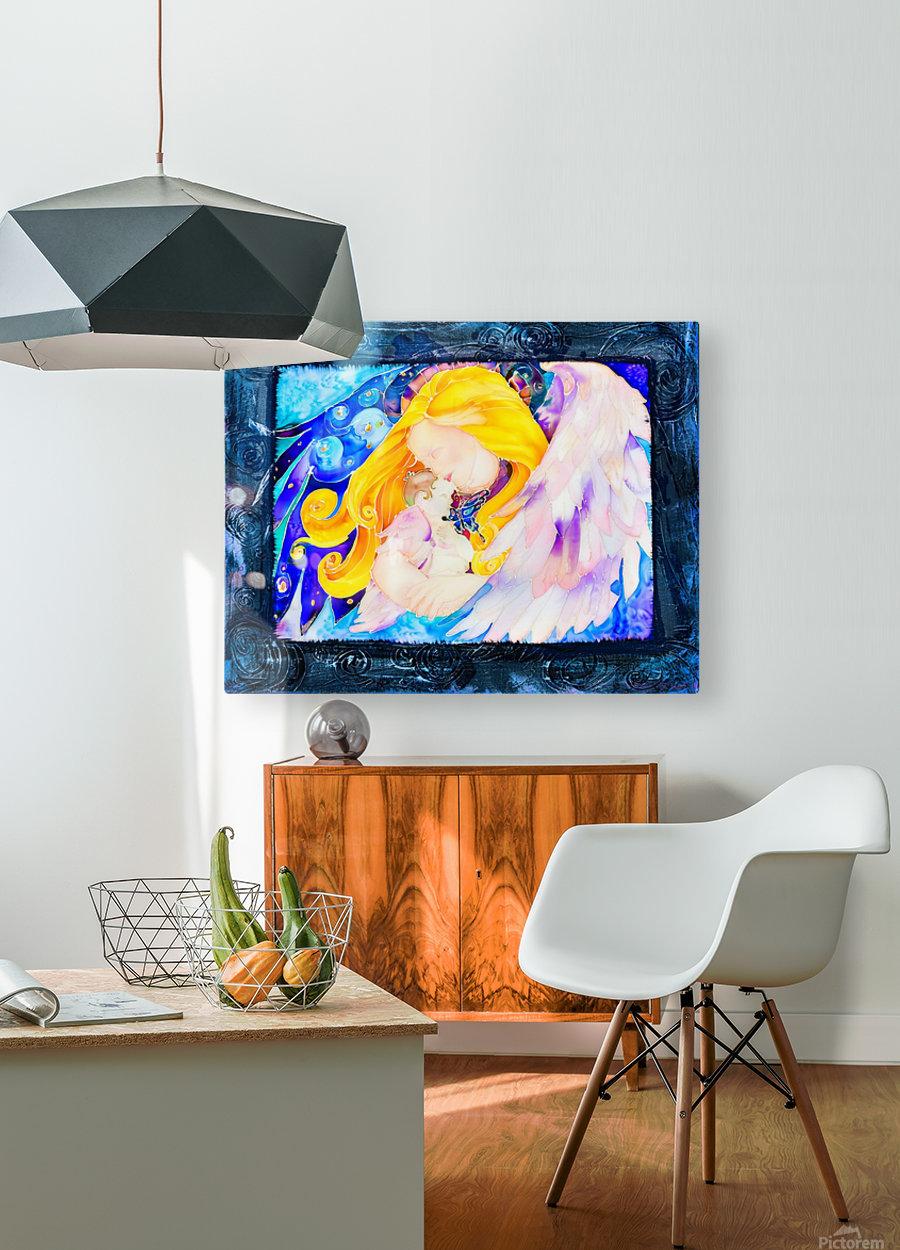 Held full frame  HD Metal print with Floating Frame on Back