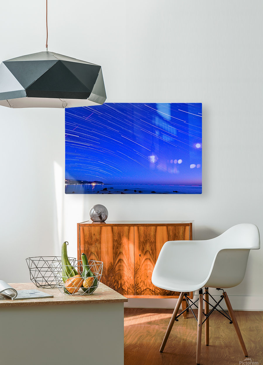Dive of stars in the sea  HD Metal print with Floating Frame on Back