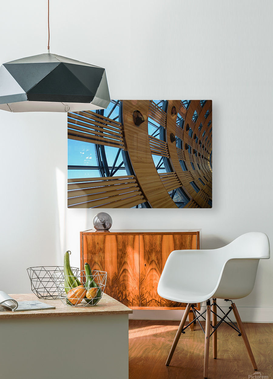 Paris Airport  HD Metal print with Floating Frame on Back