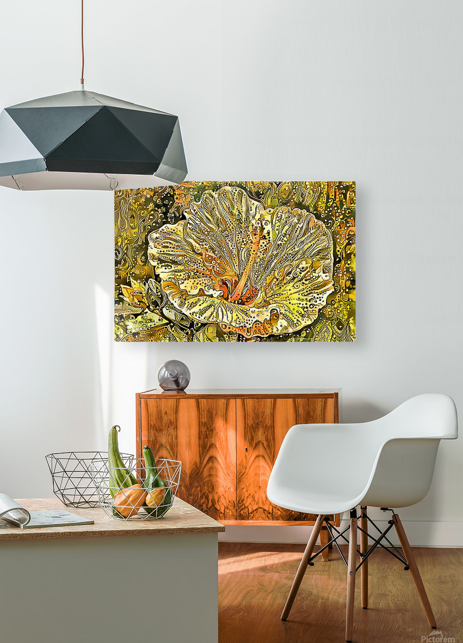 Fanciful Floral  HD Metal print with Floating Frame on Back