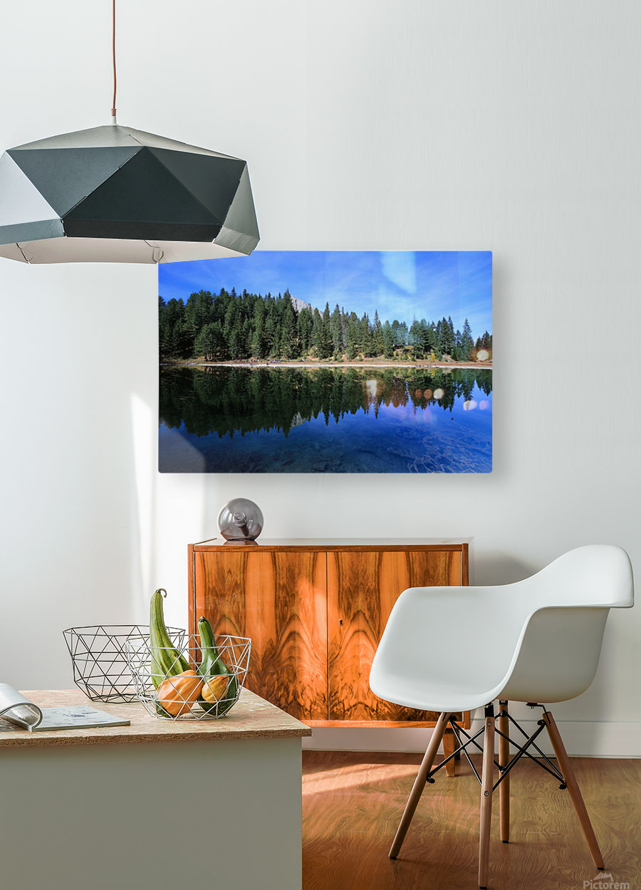 Lake Reflection  HD Metal print with Floating Frame on Back