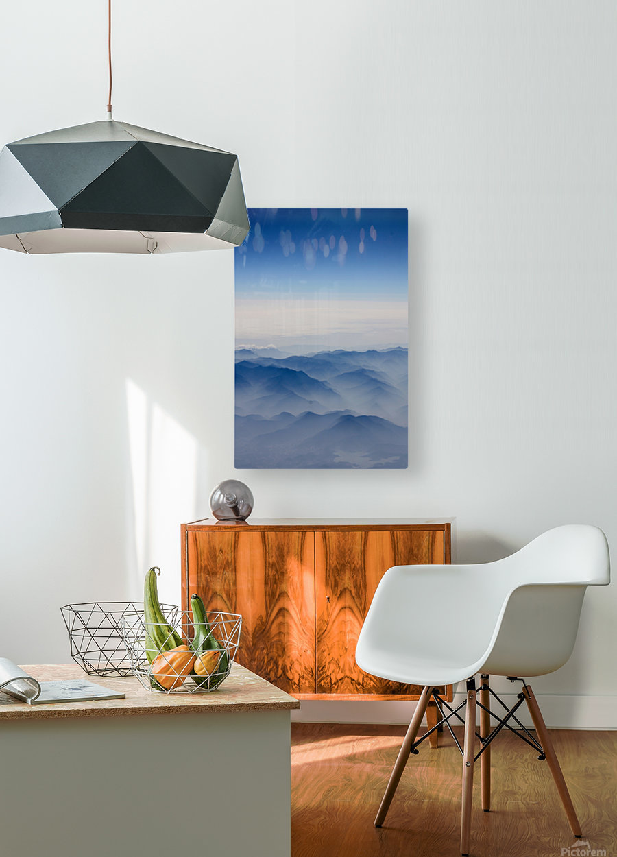 Japanese Mountains  HD Metal print with Floating Frame on Back