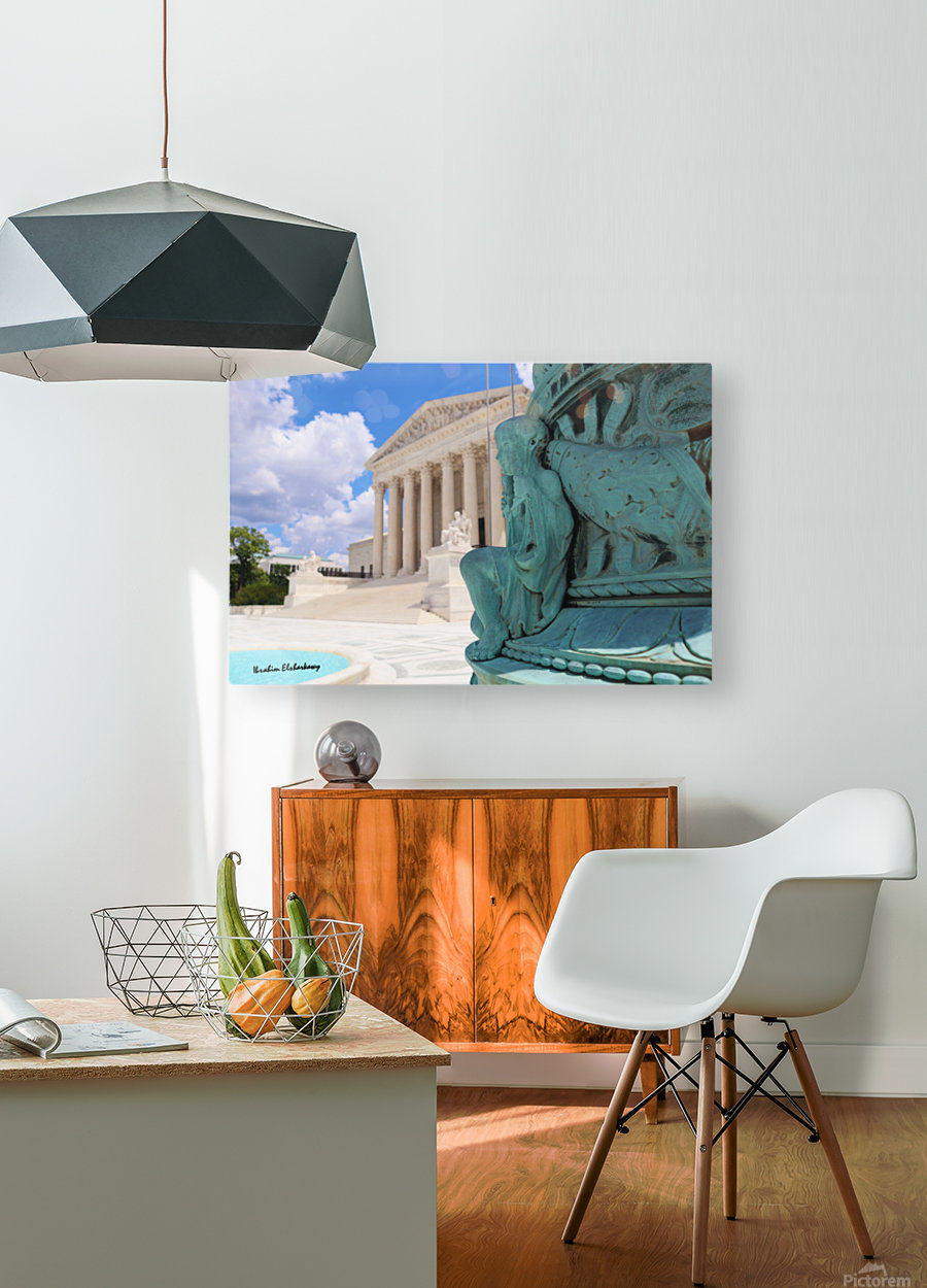 Washington DC Supreme court and Statue  HD Metal print with Floating Frame on Back