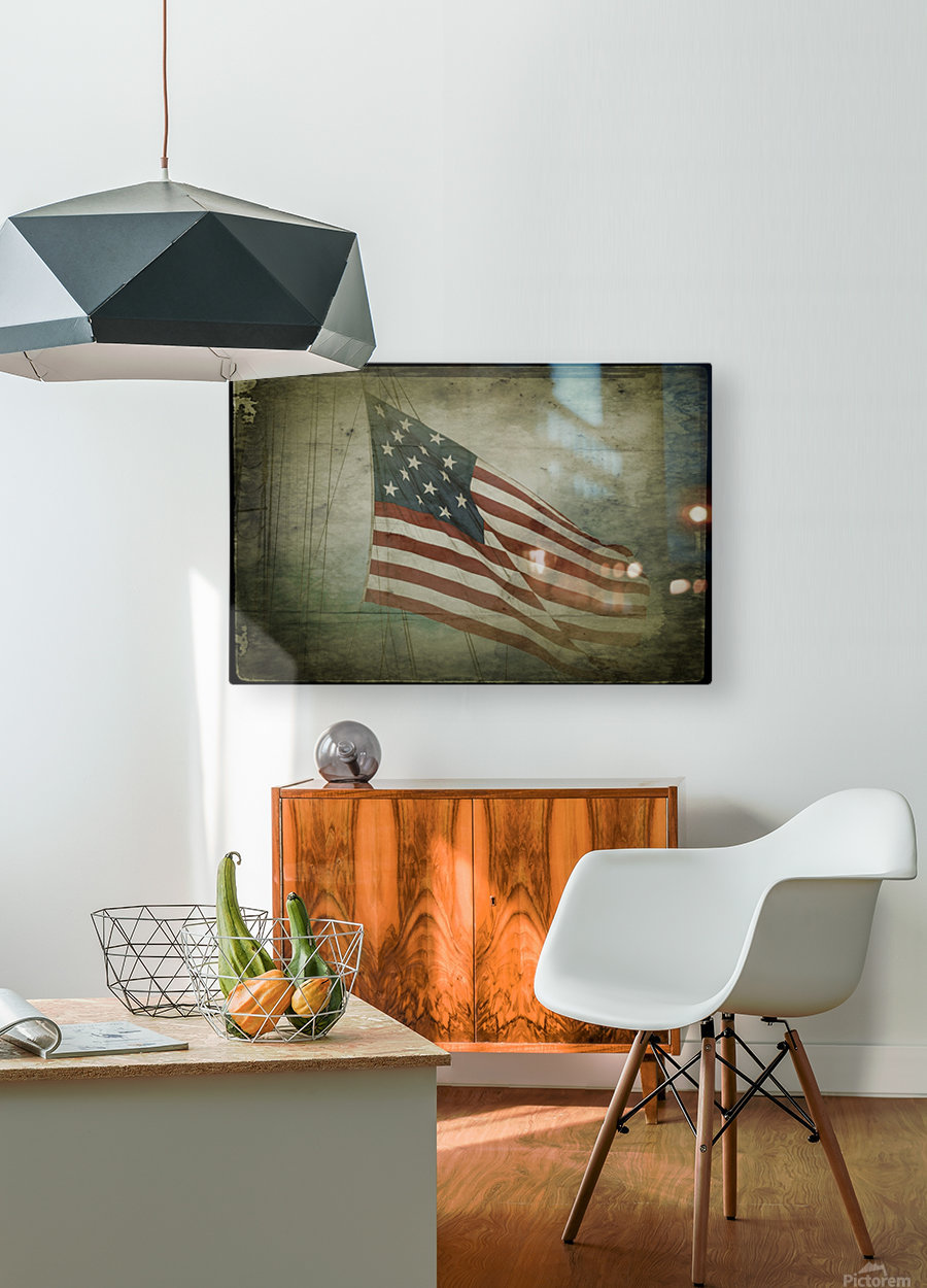 Fifteen Star Flag  HD Metal print with Floating Frame on Back