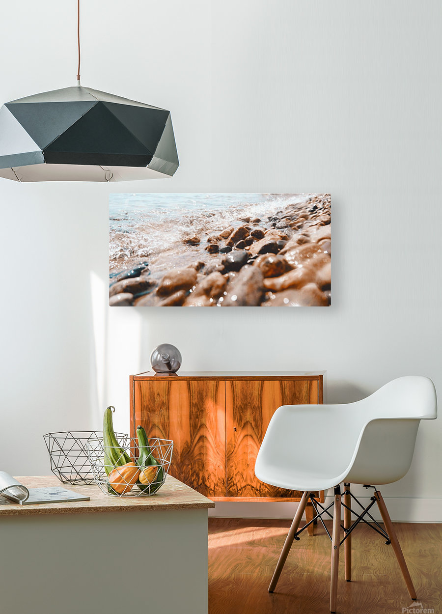 Pebbles and Ripples  HD Metal print with Floating Frame on Back