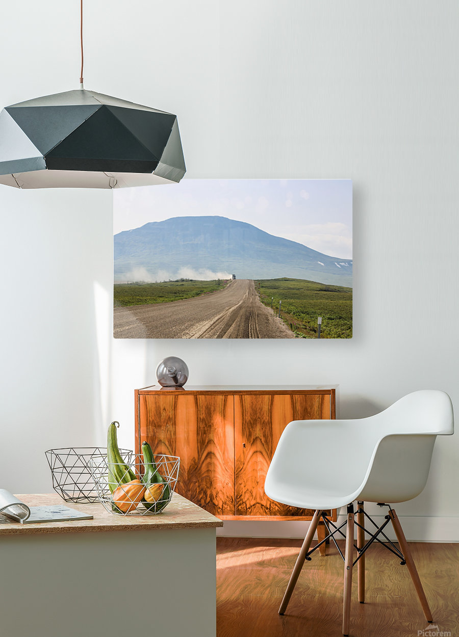 Truck on the Dempster  HD Metal print with Floating Frame on Back