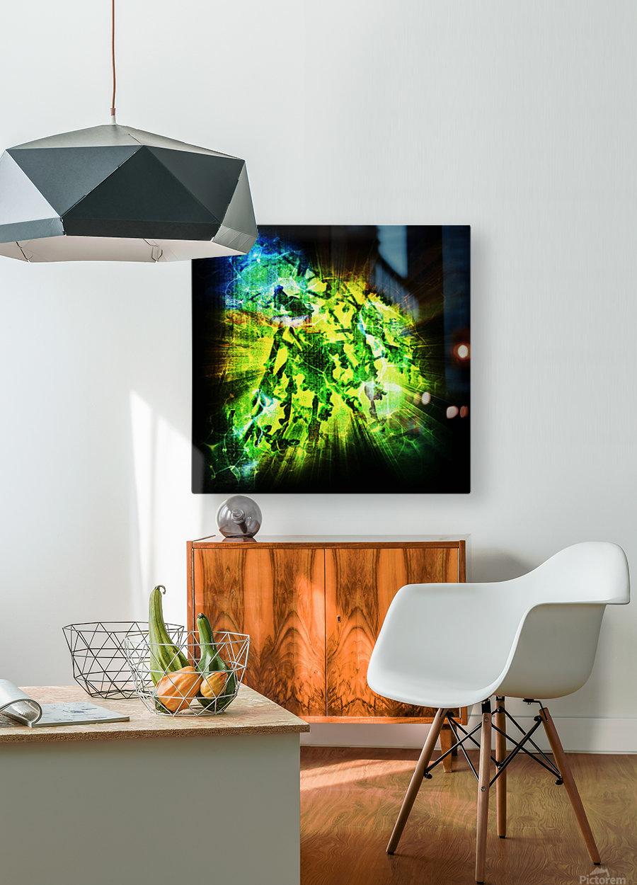 Battle WON  HD Metal print with Floating Frame on Back